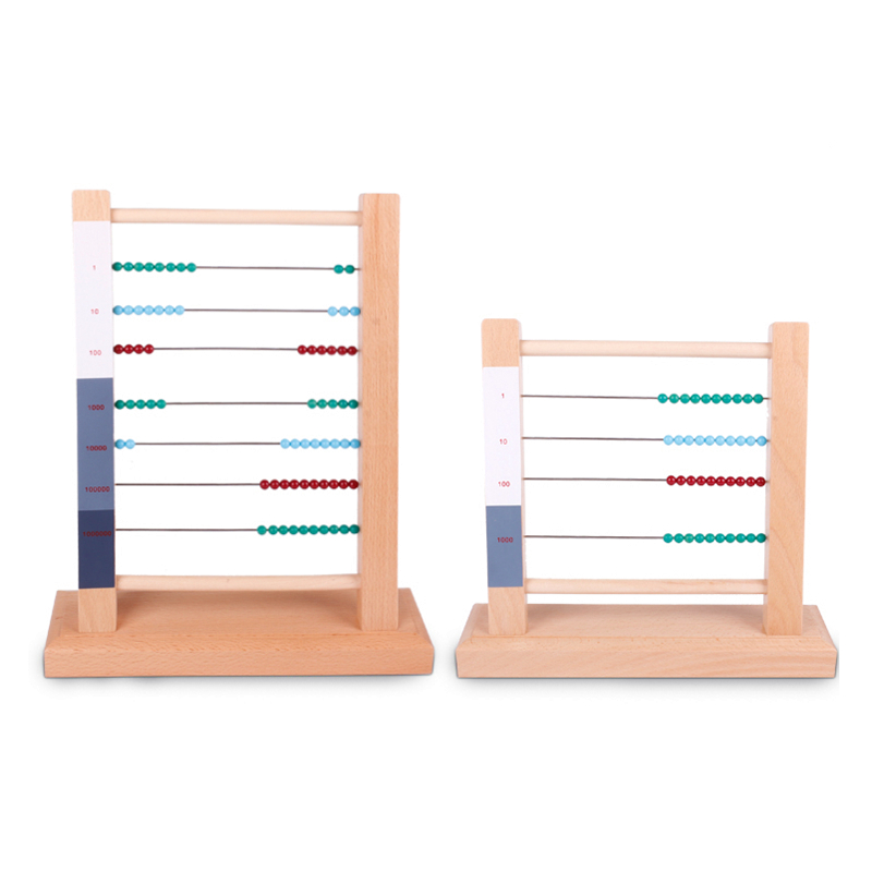 Montessori Materials Wooden Arithmetic Abacus Frame Math toy Kindergarten Kids Early Learning Toys For Boy Children bohs kids child wooden multicolour mathematics math domino blocks early learning toy sets 1set 110pcs 1pc storage bag