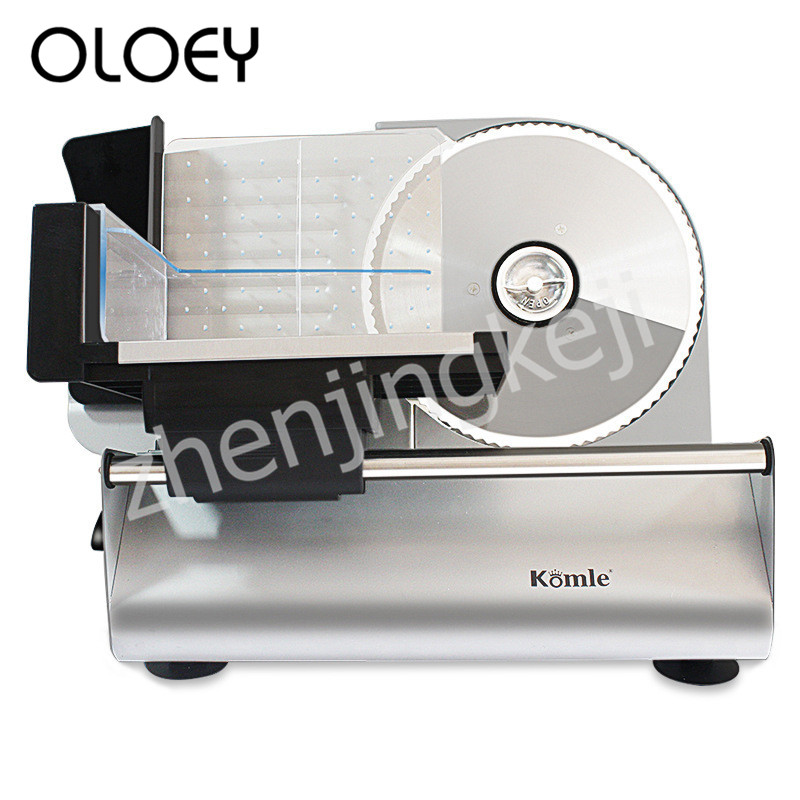 Electric Meat Slicer Automatic Slicer Cutting Bread Machine Detachable Alloy Stainless Steel Knife 200W Adjustable Thickness