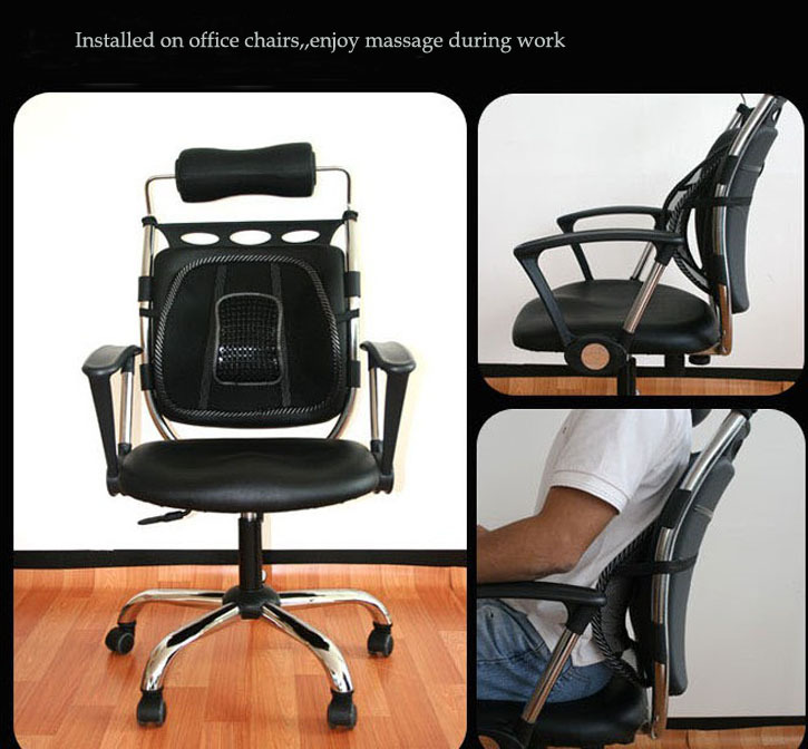 Lumbar Support Office Chair Cushion With Laptop Stand India Promotion Car Seat Massage Back Mesh Ventilate Pad