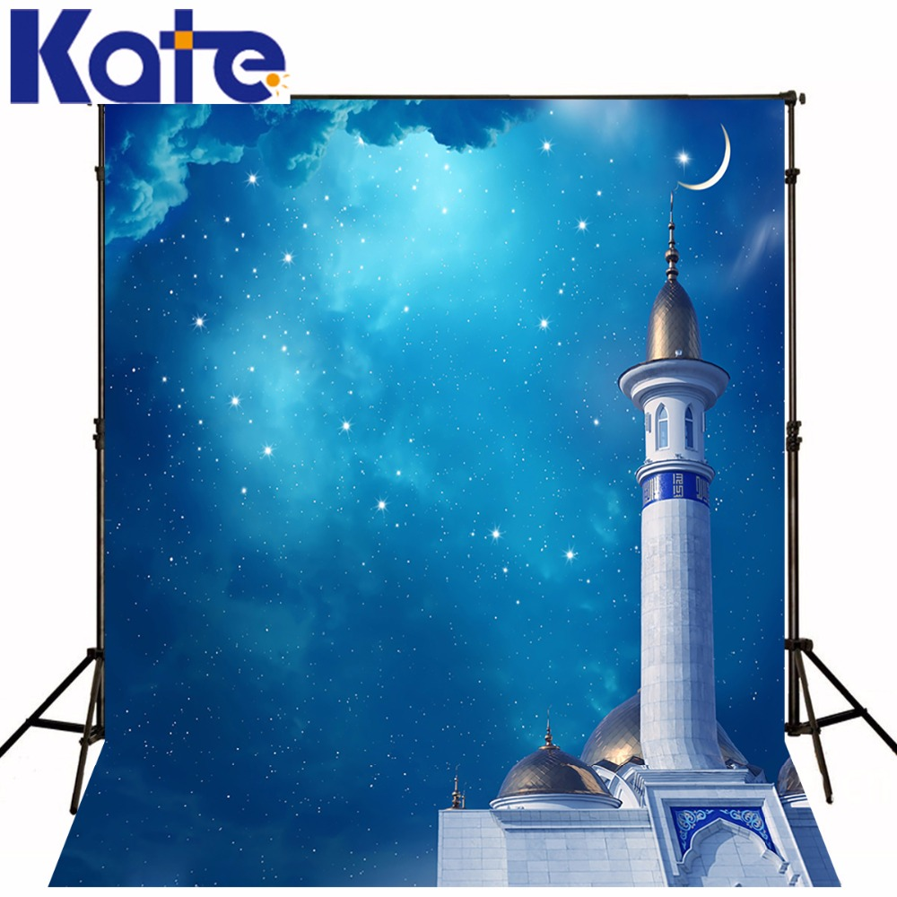 Digital Printing Retro Photography Backdrops Fairy Backgrounds Fantasy Blue Sky Stars Moon High Building For Wedding Backdrops blue sky чаша северный олень