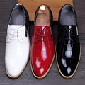 Male Casual Derby Shoes Pointed toe Business Leather shoes Men Wedding shoes  Spring Autumn Male Flats 022