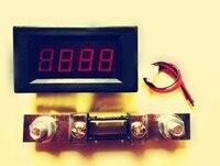 送料無料、赤いled 0〜500a dcデジタルパネル電流計ampアンペアメーター+ 500a/75mvのシャン