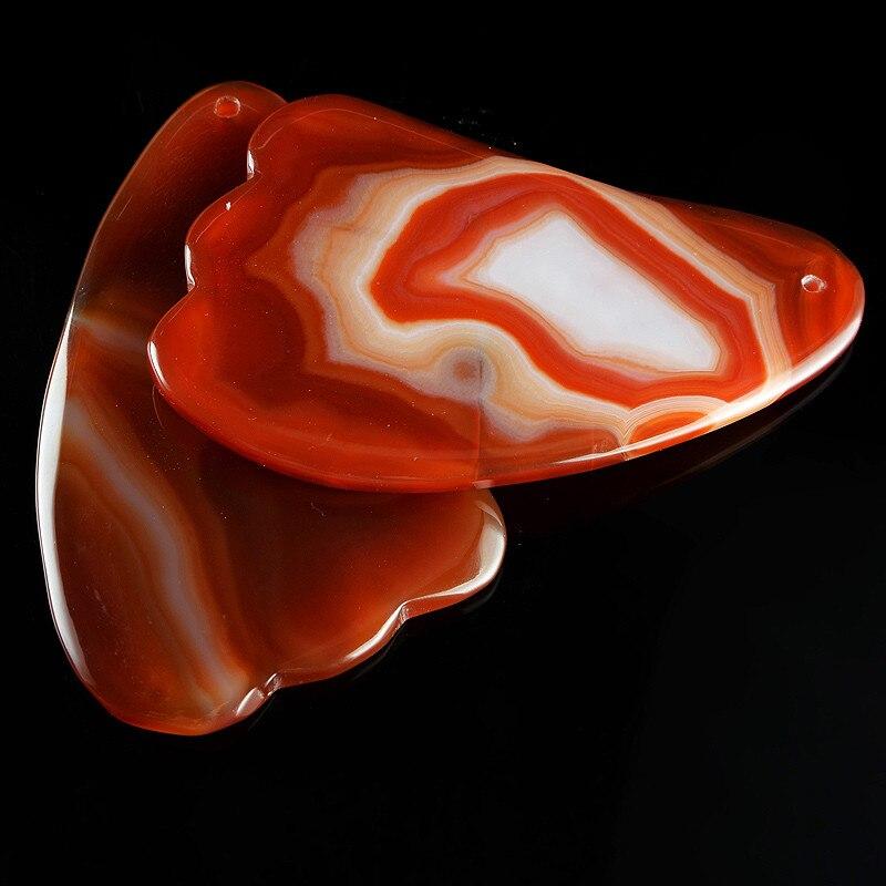 Piedra Natural Carnelian tradicional Healing Reiki medicina raspado herramienta SPA belleza salud Gua Sha masaje piel Beads bolsa libre