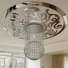 Traditional Chinese Vintage Circle Phoenix Decorative Acrylic Ceiling Mirror Wall Stickers Living Room Bedroom Decor Decals R213