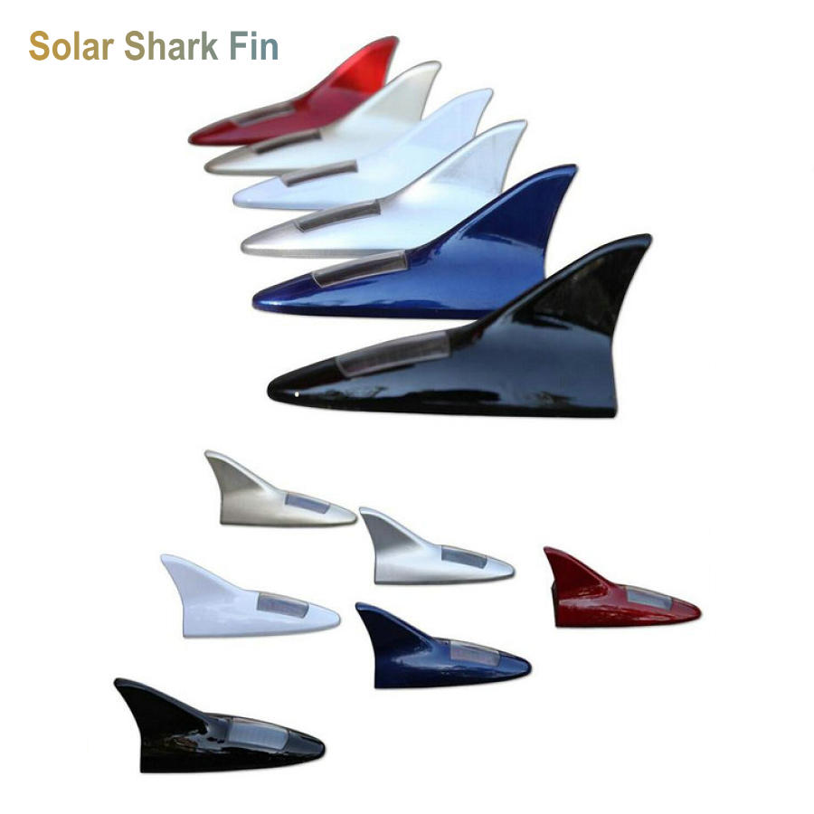 Solar Universal Car Shark Fin Antenna Aerial For Skoda Rapid with Radio Antenna Decorative Shark Fin with 3M 10led inside auto car solar powered led flashing car shark fin warning tail lights with controller universal aerial antenna ad