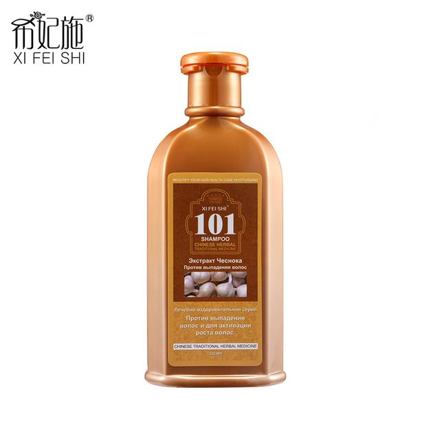 250 ML Tratamiento Del Cabello Adultos Grupo de Edad Natural de Ajo Fresco Anti-Pérdida de pelo Champú 101 XI SHI FEI y Revitalizar el cabello KF029
