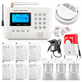 Intelligent Wireless Dual net GMS PSTN  Home   Alarm System SMS call alarm