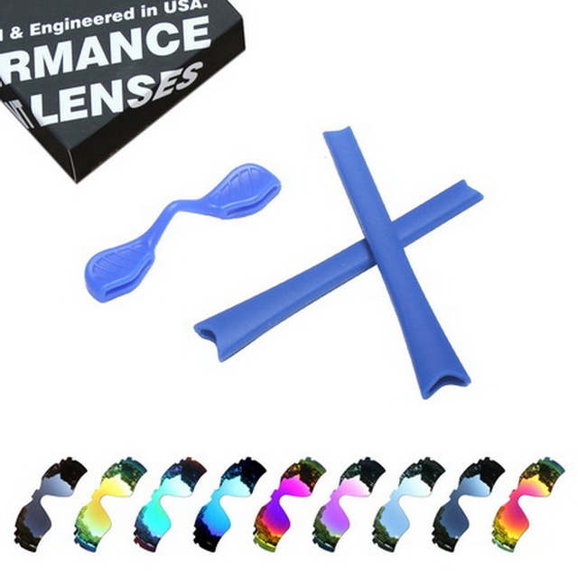 5619d5f4522 ToughAsNails Polarized Replacement Lenses   Blue Ear Socks Nose Pads for  Oakley Radar Path Vented Sunglasses -
