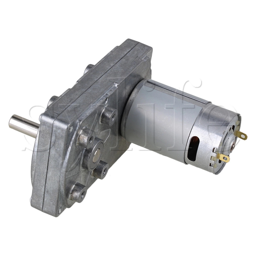 High Torque Electric Square Gearbox Geared Motor Silver Metal DC 12V 12RPM zndiy bry 16ga 120 dc 12v 120rpm geared motor silver