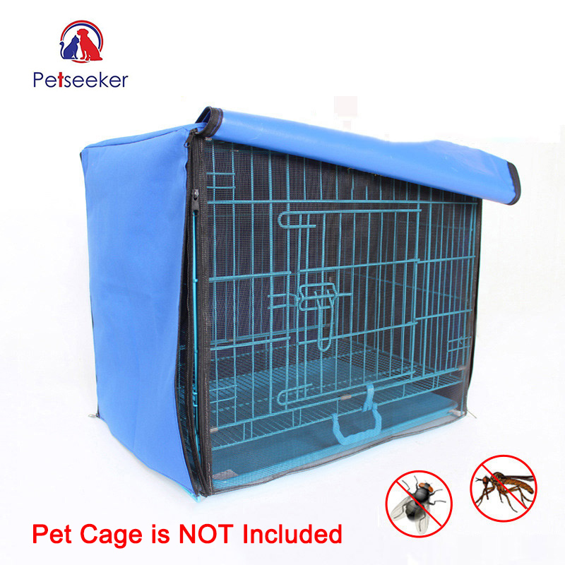 Dog Cage Cover Foldable Anti-mosquito Tent Waterproof Oxford Pet Crate Cover for Wire Crate Dog Kennel Cage Blanket Without Cage
