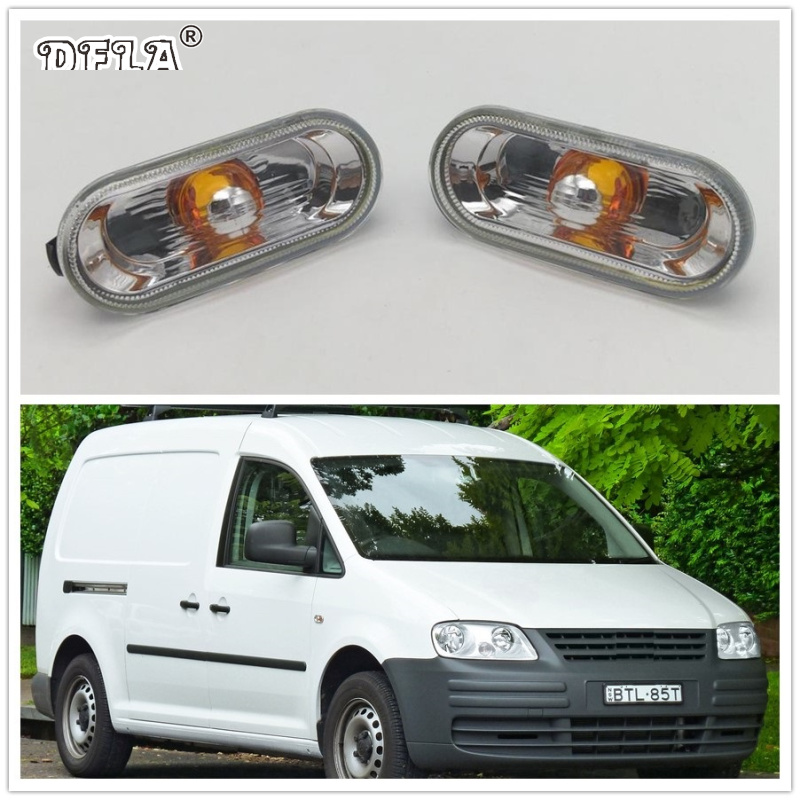 2pcs For VW Caddy 2009 2010 2011 2012 2013 2014 2015 Car-Styling Side Marker Turn Signal Light Lamp Repeater car rear trunk security shield shade cargo cover for volkswagen vw tiguan 2009 2010 2011 2012 2013 2014 2015 2016 black beige