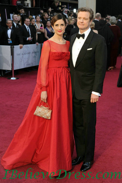 beeb6864d910a elaborate delicacy Ruching Livia Firth Red Maternity Evening Gowns Oscar  Dress Red Carpet dresses long sleeves red gowns custom