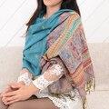Mujeres pashmina bufanda de moda del nuevo diseño largo chal de gasa de seda del cabo tippet silenciador echarpes Bufandas