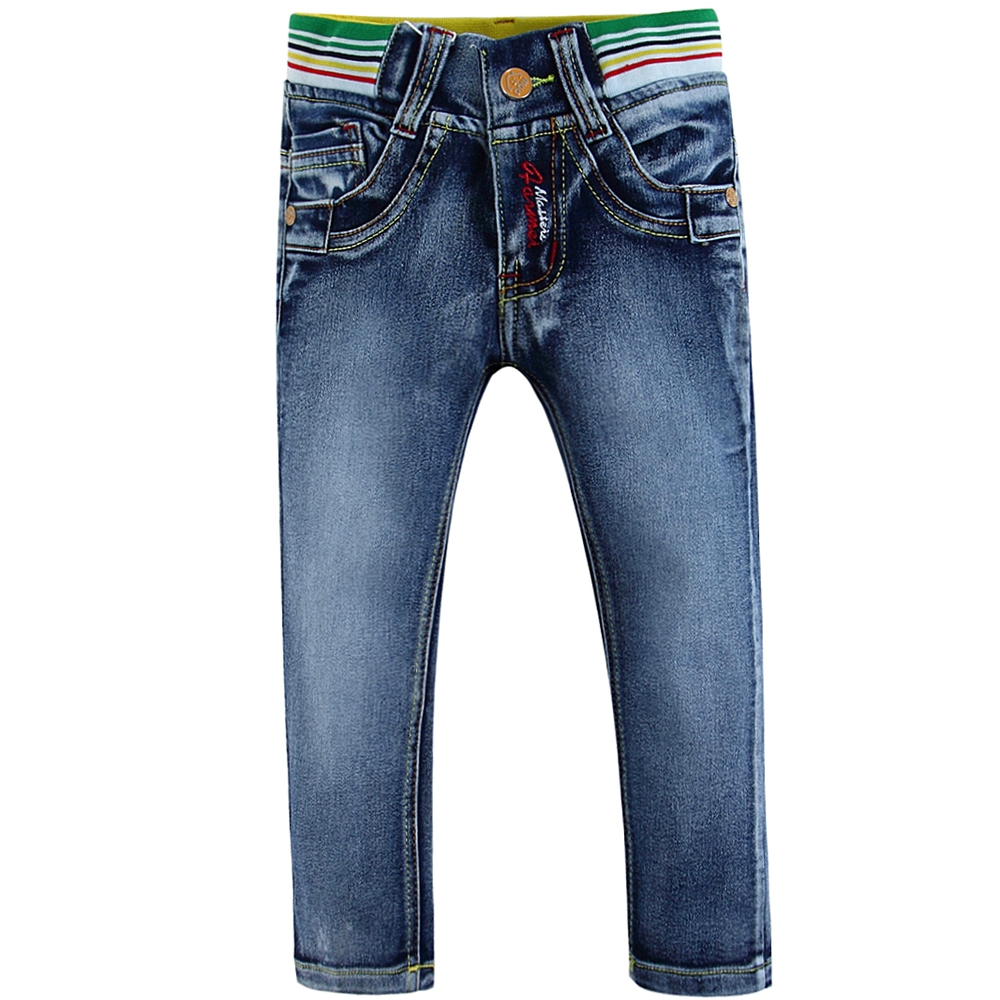 High quality cotton toddler boy jeans with cute