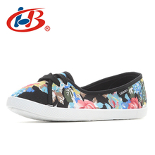 Купить с кэшбэком LIBANG New Arrival Floral Flat Shoes Women Soft Women Sneakers Canvas Women Flat Loafers High Quality Women Vulcanized Shoes