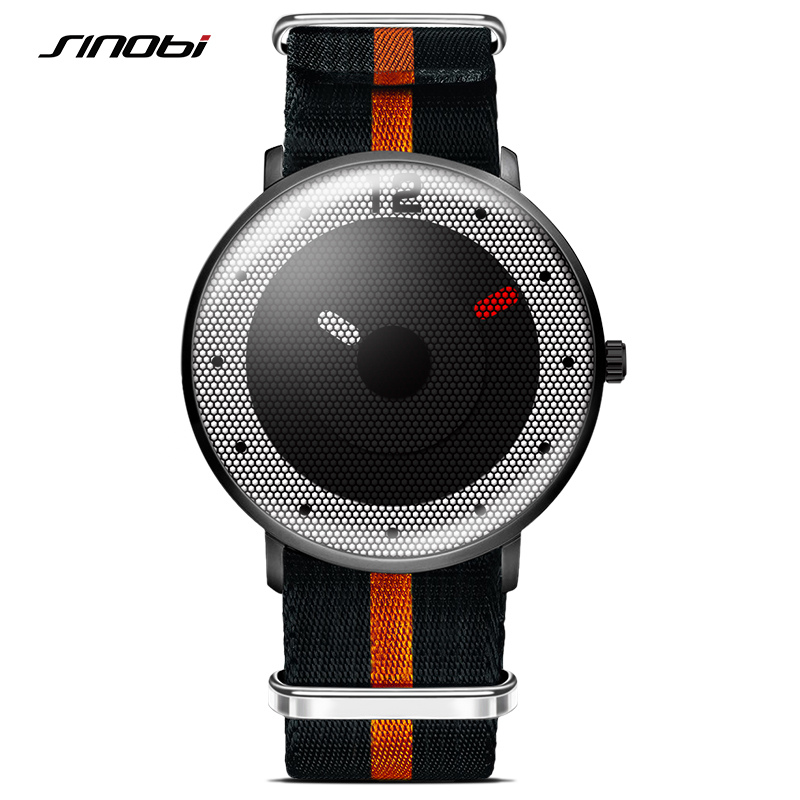 SINOBI Creative Men Wrist Watches Removable NATO Nylon Watchband Top Luxury Brand Males Quartz Clock Gents Wristwatch