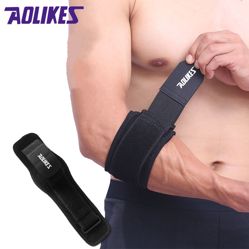 AOLIKES 1 szt. Fitness Elbow Support Adjustable Running Pressurization Kompresja Codera Guard Protector Sports Safety