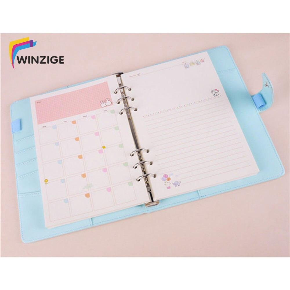 Winzige Macaron A5 A6 Spirale Binder Notebook Kawaii Agenda Kugel ...