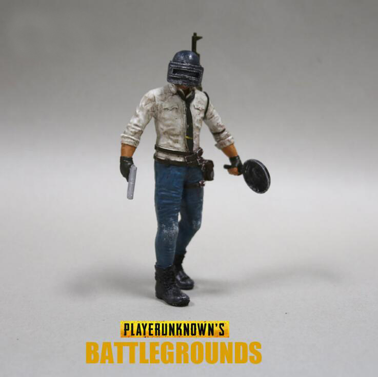 Game Playerunknown's Battlegrounds Action Figure PUBG Model WINNER WINNER CHICKEN DINNER Toy Charm Cosplay Gifts Souvenir 17 cm playerunknown s battlegrounds pubg winner chicken bobble head action figure with magnet pvc collectible model toy 2pcs set