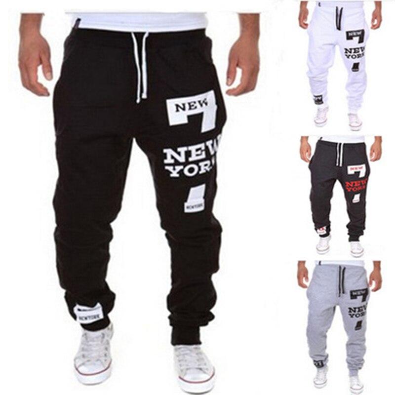 Men Jogger trousers Male Pants New York pant Printing Baggy Loose Letters Printed Casual Sweatpants Men Pants  2019 new