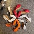 2016 novo estilo de mulheres Sexy de salto alto de Patchwork Pointy Toe celebridade partido senhoras sandálias de plataforma sapatos 35 - 40