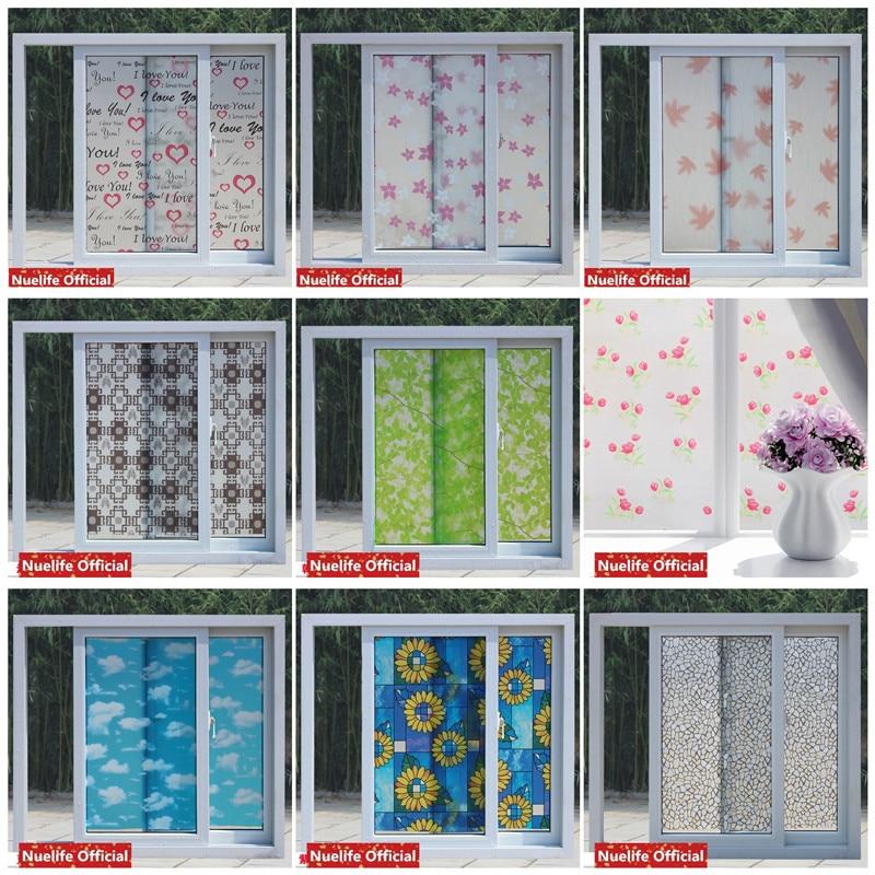 90x200cm color printing glass frosted film bathroom kitchen kids room kindergarten shop sliding door Sunscreen window film