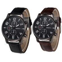 Бизнес классический мужской кожаный браслет для часов кварцевые наручные часы брендовые Роскошные спортивные Relogio Masculino Saat подарок Прямая