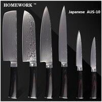 Xyj абсолютно Дамаск Ножи для шашлыков 8 дюймов шеф повар нарезки 7 Chopper сантоку 5 5 Универсальный нож AUS 10 Дамаск Сталь кухонные ножи комплект