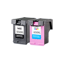 LuoCai Compatible ink cartridges for HP 650 XL Deskjet 1015 1515 2515 2545 2645 3515 3545 4515 4645 printer For HP650 XL 650xl free shipping 2016 [hisaint] 2pk 650xl bk color ink cartridges for hp deskjet 1015 1515 4645 ink jet printer hot sale