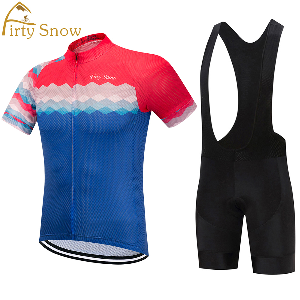 Firty Snow 2018 Cycling Sets Bike jersey sets Cycling jersey Sets Cycling clothing short sleeve bike bicycle jersey + pants sets