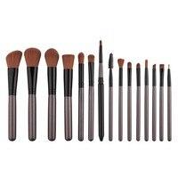 Professional Beauty Make Up Cosmetic Powder Foundation Eyeshadow Brushes Makeup Brushes Sets 15pcs