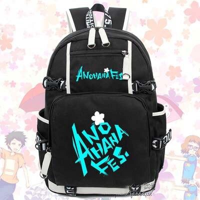 Горячая аниме секретная база Honma Meiko рюкзак косплей модная парусиновая сумка светящаяся школьная сумка дорожные сумки