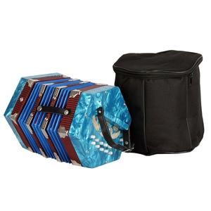 Image 3 - コンサーティーナアコーディオン 20 ボタン 40 リードアングロスタイルキャリングバッグ