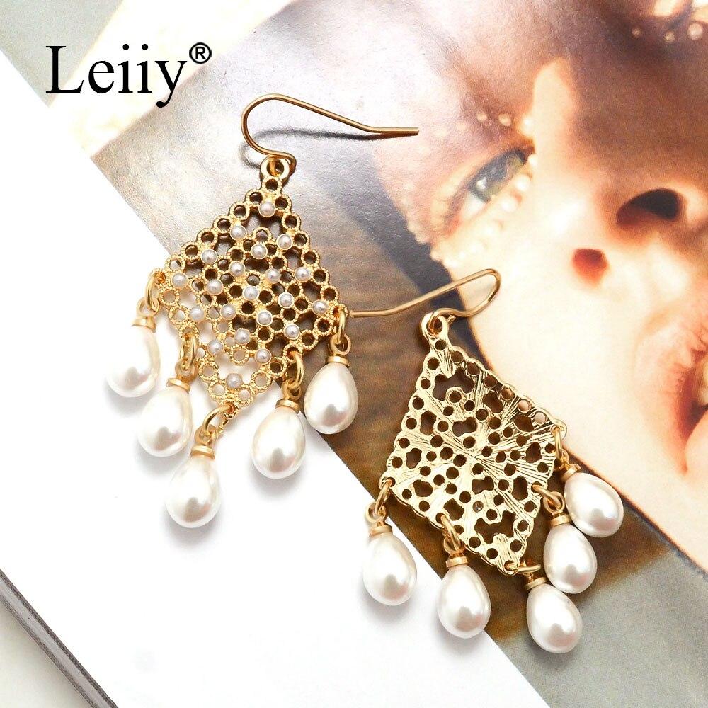 Leiiy Elegant Water Drop Simulated Pearl Drop Earrings For Women Hollow  Geometric Dangle Bridal Wedding Earrings Fashion Jewelry-in Drop Earrings  from ... 9ffaccdf2f4c