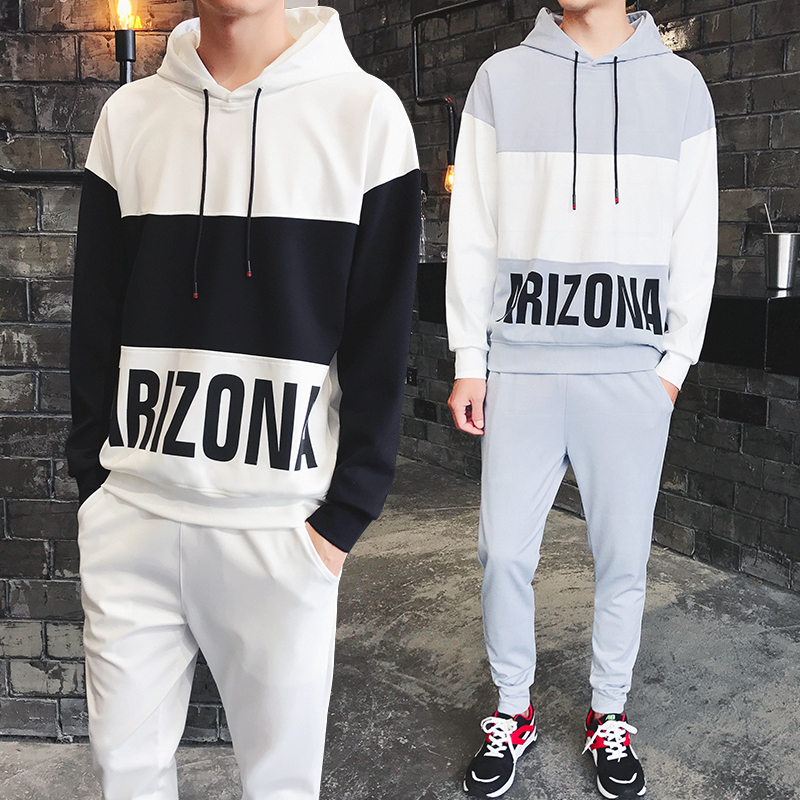 The Fall Of New Mens Long Sleeved  Clothes Men Sets A Metrosexual Hoodie Leisure  Two DJ836P68