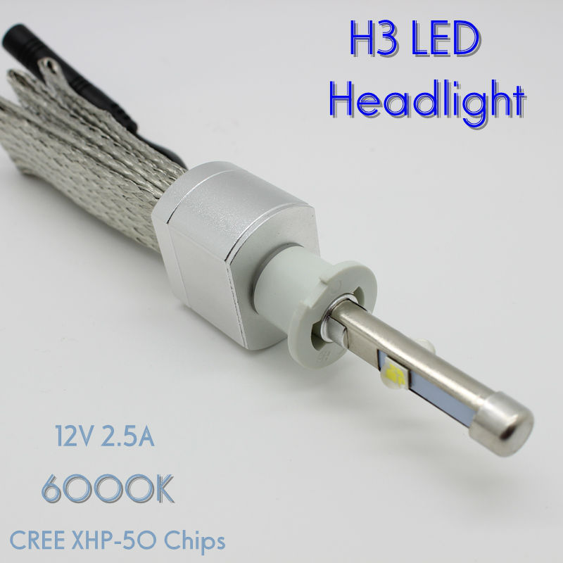 ФОТО Osen Super Bright 40w H3 Xenon White 6000K Car LED Headlight Conversion Lamp Kit 4800lm Bulb