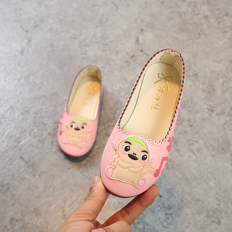 AFDSWG spring and autumn girls princess shoes artificial PU white shoes children girls pink child moccasin kids leather shoes