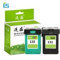 2Pcs Set 131 135 Remanufactured Ink Cartridge Compatible For HP Deskjet 5743 6543 6623 6843 9803