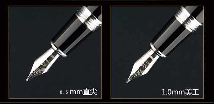 Jinhao X750 Sơn Mài 15 Colours Với Viền Bạc Thư Pháp Nib Fountain Pen và Bút Chì Box luxury viết gift bút