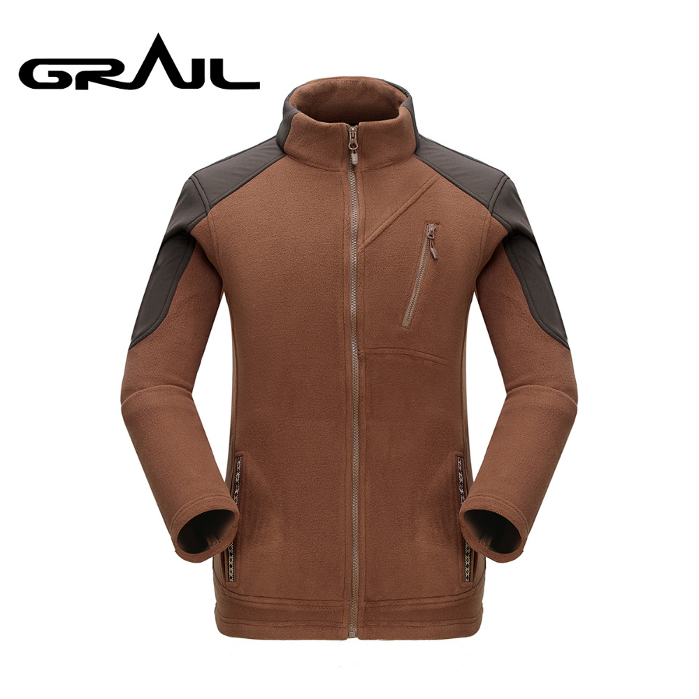 GRAIL Brand Softshell Outdoor Men Thicken Warm Polar Fleece Jacket Polartec Men's Jacket Coats Windstopper Outwear Clothing5327A футболка wearcraft premium slim fit printio 9 мая белая