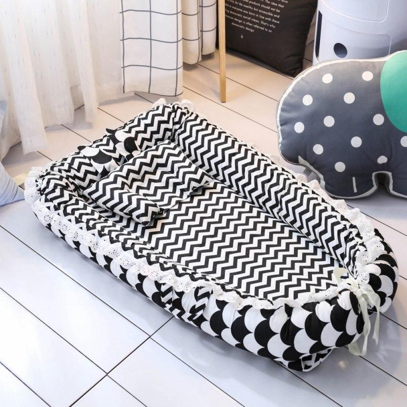 Berceau bébé pour lit Portable chaise longue pour nouveau-né berceau respirant et nid de sommeil avec oreiller