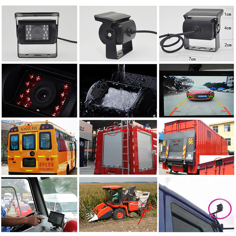 7 quot HD LCD IPS Mini Computer amp TV Display CCTV Security Surveillance Screen monitors with HDMI VGA Video Audio Car Monitor in Car Monitors from Automobiles amp Motorcycles