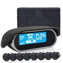 Car LCD Parking Sensor Assistance Reverse Sensor Backup Rader System With 8 Sensor Car Parking Monitor Detector System