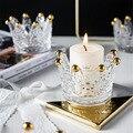 Скандинавская Корона Форма ювелирных изделий стеклянный поднос для хранения расписанный вручную золотой поднос для сигарет пепел подсвеч...