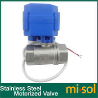 10pcs/lot Motorized Ball Valve G3/4 DN20 (reduce port) 2 way 12VDC CR04,Stainless steel, electrical Valve