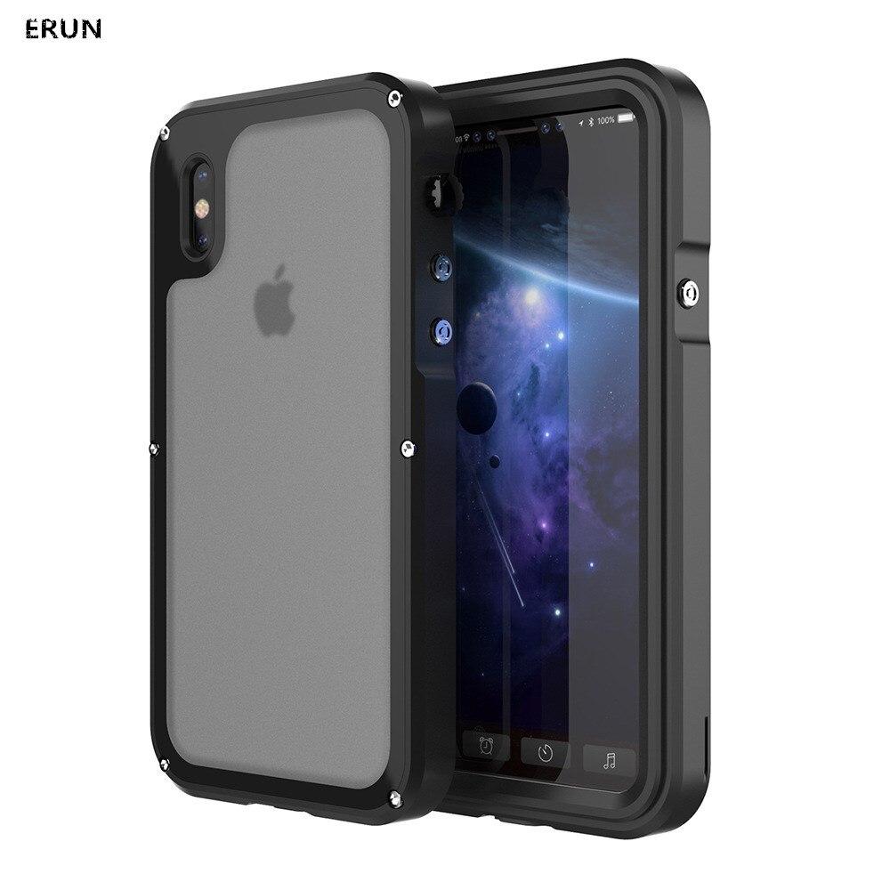 Étui pour iphone 3 anti-étui de téléphone portable en métal anti-chute housse de protection IP68 étanche coque de plongée étui rigide