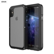 Case for iphoneX 3 anti-mobile phone case metal anti-fall protective cover IP68 waterproof diving shell hard