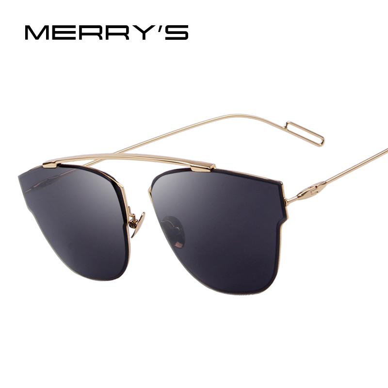 MERRY'S Fashion Women Brand Design Rimless Sunglasses Cat eye Sunglasses Oculos de sol UV400