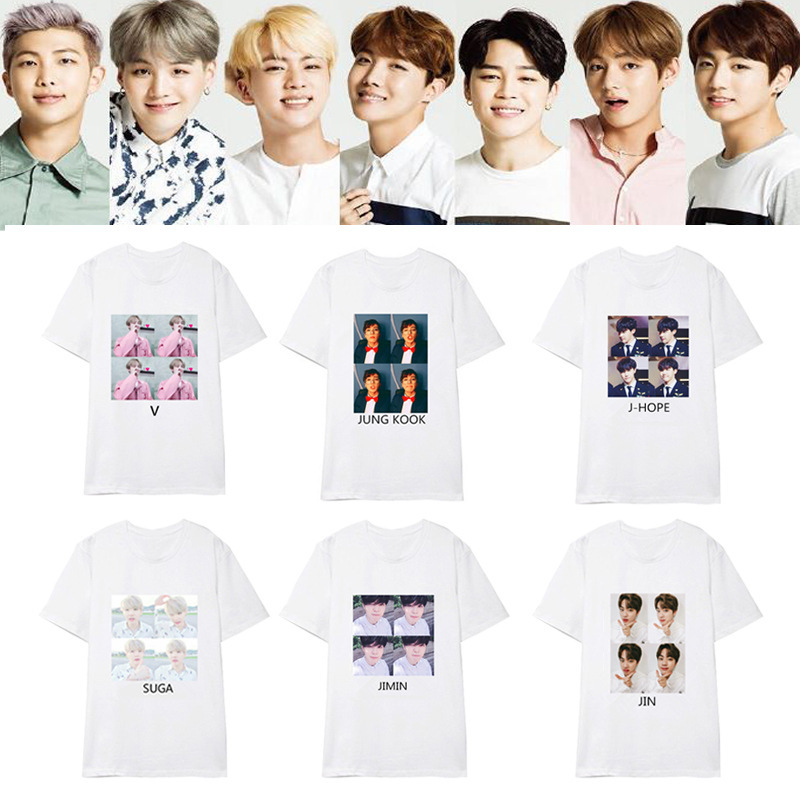 KPOP bts Bangtan Boys album with short sleeve T-shirt loose summer 2018 spoof Avatar new listing k-pop T shirt summer Tshirt