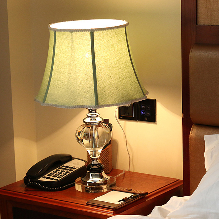 luxary classic european bedroom table lamp foyer american crystal table light glass tall table lamp bedside